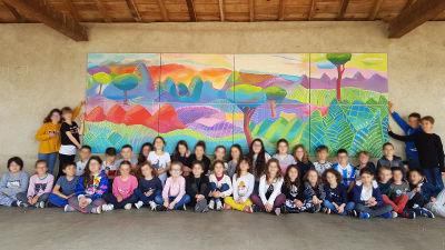 Fresque de l'école de Relevant