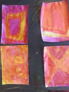 Camaïeu de couleurs chaudes