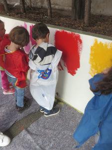 Projet de fresque avec des enfants de petite section