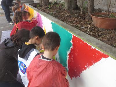 Fresque à l'école maternelle Immaculée Concption