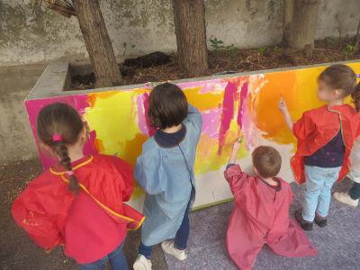 Tout le mur sera recouvert de couleur