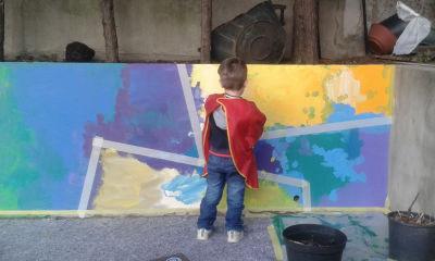 Fresque réalisée par les enfants