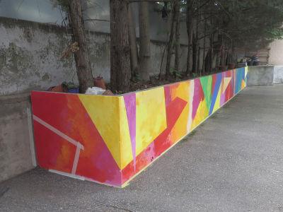 Le retour du mur a aussi été peint