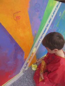 Peindre des lignes jaunes