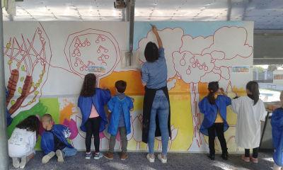 Le mur à peindre mesure 2 m de haut