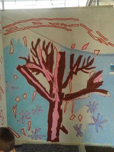 L'arbre d'hiver en cours d'élaboration