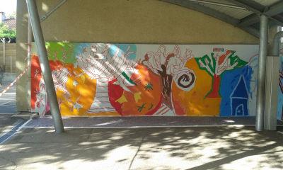 Le mur consacré à l'évocation de l'automne
