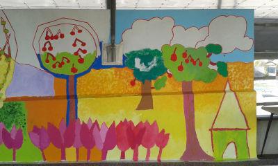 Interventions artistiques à l'école Jeanne d'Arc à Genas