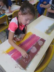 Intervention artistique dans une classe de CP