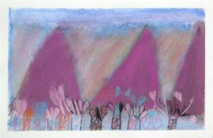 Les montagnes roses de l'automne