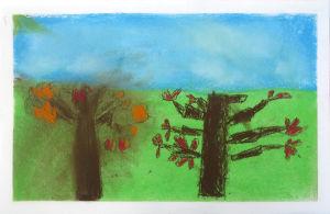 Deux arbres en automne