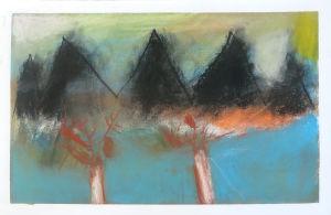 Les montagnes sombres de l'automne