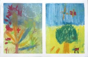 Un arbre au prinemps et un arbre en été