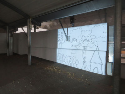 Projection du dessin sur la mur