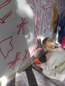 Un mur peint par les enfants