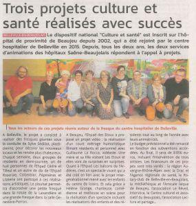 Article Patriote Beaujolais 07-11-2019 (3 projets culture et santé)