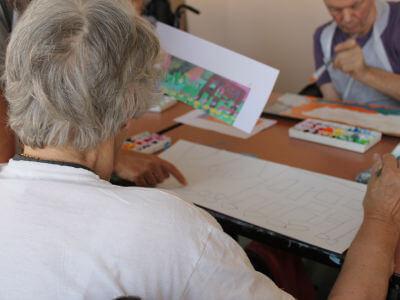 Interventions artistiques en EHPAD