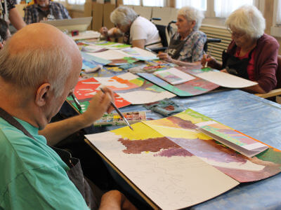 Interventions artistiques avec des personnes agées