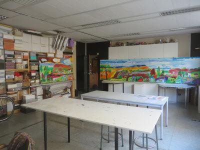 Les deux tableaux dans l'atelier