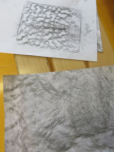 Empreinte de plaque texturée