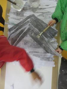 Montagne en papier