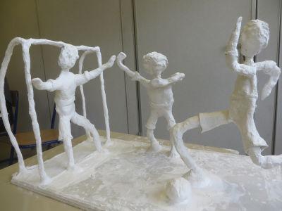 Sculpture en plâtre