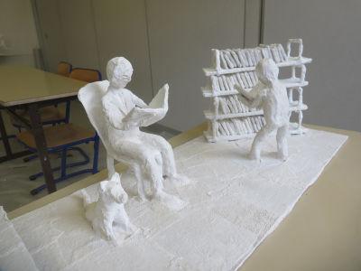 Saynette à la bibliothèque