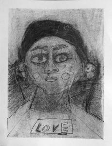 Autoportrait d'une fillette de 7 ans