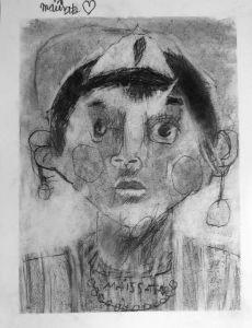 Autoportrait à la mine graphite