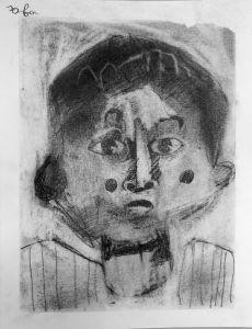 Portrait au crayon à papier