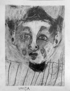 Auto portrait d'un enfant agé de 7 ans