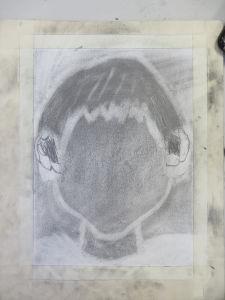 Première étape du dessin