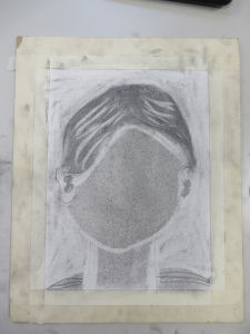 Première étape pour dessiner un portrait