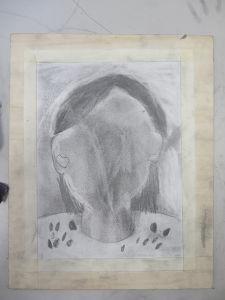 avant de dessiner le visage ...