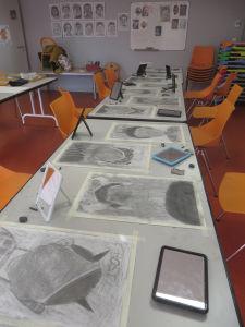 Atelier dessin organisé par la médiathèque de Roanne
