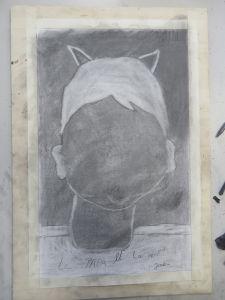 Autoportrait aux cheveux blancs