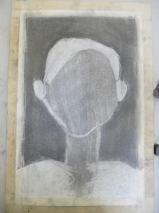 Portrait aux cheveux blancs