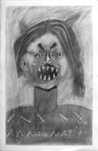 Auto-portrait méchnat d'Anna-Maria