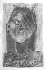 Autoportrait méchant de Camille
