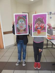 Atelier de dessin au centre de loisir de Mably