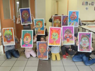 Portraits méchamment colorés