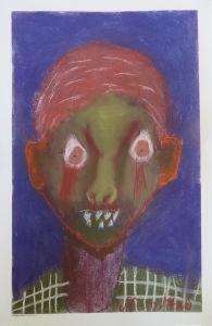 Autoportrait verdâtre