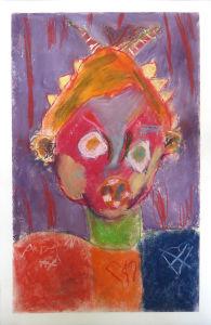Autoportrait méchamment coloré