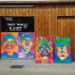Portraits géants au centre social la Livatte