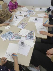 Arts visuels dans une classe de CP