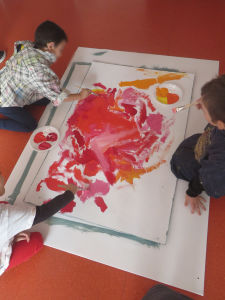 Oeuvres collectives au centre social de la Livatte