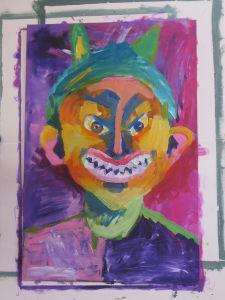 Premier portrait peint par les enfants