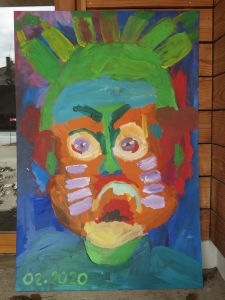 Deuxième portrait géant