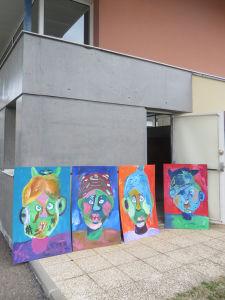 Peindre sur de grand formats avec les enfants