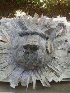 Masque en papier mâché